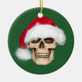 Kerstmis voorbij rond keramisch ornament