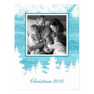 Kerstmis | Waterverf - de Bomen van de Pijnboom Briefkaart