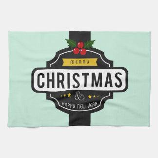 Kerstmis wenst keukenhanddoek