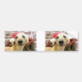 Kerstmis - Windhond - Pena Bumpersticker