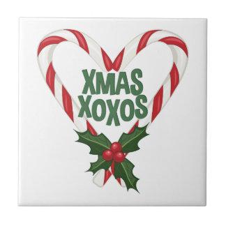 Kerstmis XOXOs Tegeltje Vierkant Small