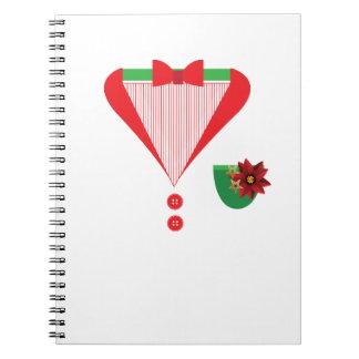 Kerstmiskostuum van de Smoking van Kerstmis Notitieboek