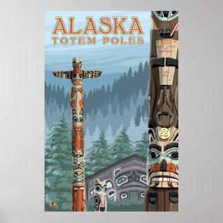 Ketchikan, het Dorp van de Totem Alaska - Saxman Poster