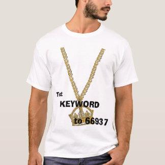 Ketting, Tekst, aan 66937, SLEUTELWOORD T Shirt