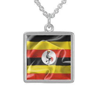 Ketting van de Vlag van Oeganda het Echte Zilveren