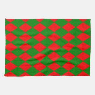 Keuken/de Handdoek van T - de Rode & Groene Vormen