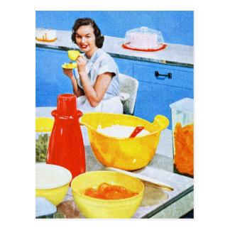 Keuken de In de voorsteden van de Huisvrouw van de Briefkaart