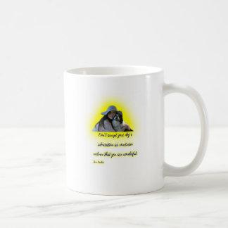 Keur de bewondering van uw hond niet goed koffiemok