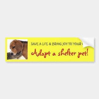 Keur het Huisdier van de Schuilplaats, de Hond van Bumpersticker