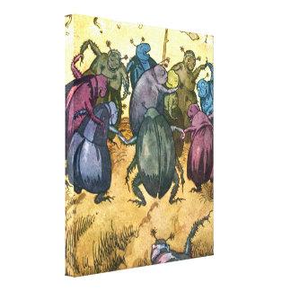 Kevers die Midzomer vieren Canvas Print