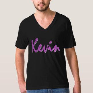 Kevin (roze op zwarte) t shirt