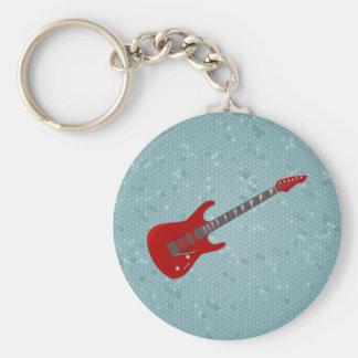Keychain met elektrische gitaarillustratie sleutelhanger