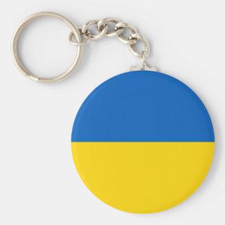 Keychain met Vlag van de Oekraïne Sleutelhanger