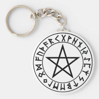 keychain Pentacle van de Rune Sleutelhanger