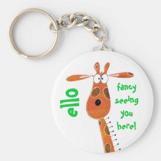 Keychain/Sleutelring… Funky Giraf Sleutelhanger