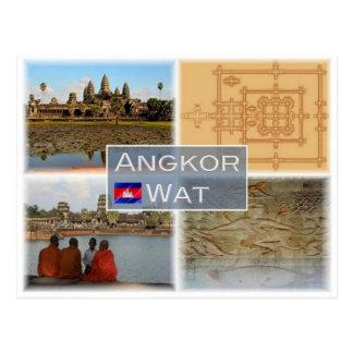 KH Kambodja - Angkor Wat - Briefkaart