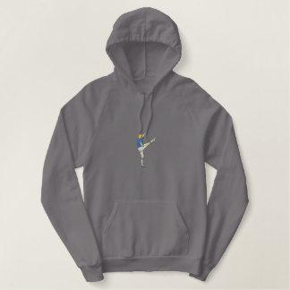 Kicker van het football geborduurde sweater hoodie