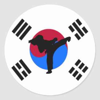 Kicker van Taekwondo Stickers