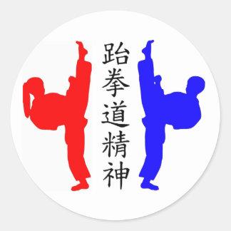 Kickers van Taekwondo Stickers