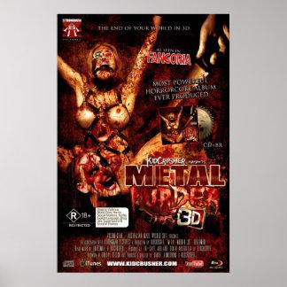 KidCrusher - 3D de Moord van het Metaal (16x24) Poster