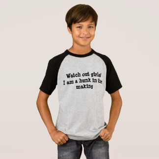 Kids' short sleeves raglan T-shirt, funny quotes T Shirt