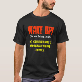 Kielzog omhoog! U wordt gelogen aan en uw T Shirt
