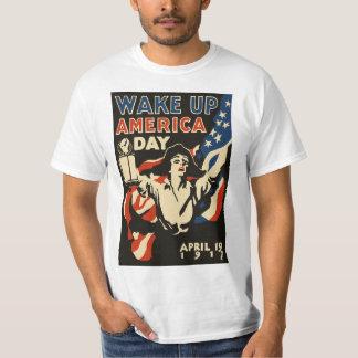 Kielzog op T-shirt van de Vlag van de Dag 1917 van