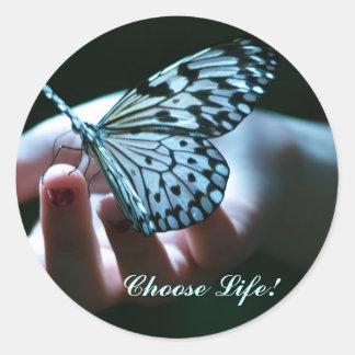 Kies het Leven! Ronde Sticker