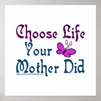 Kies het Leven, Uw Moeder! Poster