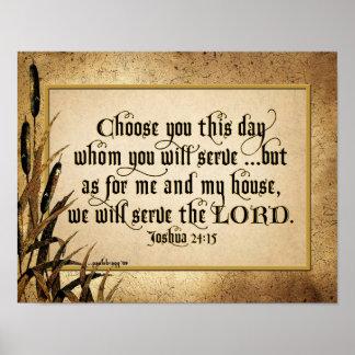 Kies u Deze Dag (24:15 Joshua) Poster