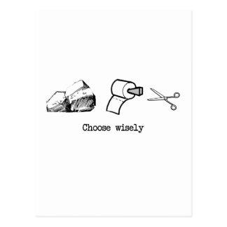 Kies wijselijk briefkaart