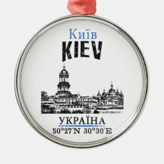Kiev Zilverkleurig Rond Ornament
