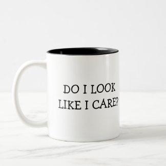 Kijk ik als de Zorg van I? Tweekleurige Koffiemok