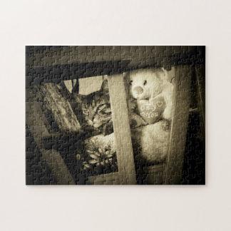 Kijk over daar Kat en draag Puzzel