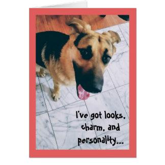 Kijkt en de Hond Valentijn van de Persoonlijkheid Briefkaarten 0
