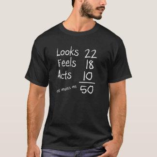 Kijkt, voelt, handelt het 50ste T-shirt van de