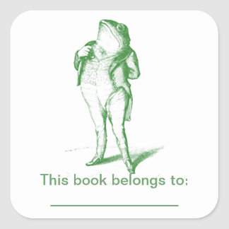 Kikker Bookplate Vierkante Sticker