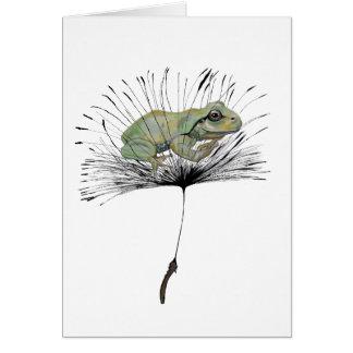 Kikker in zaad briefkaarten 0