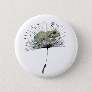 Kikker in zaad ronde button 5,7 cm