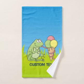 Kikker met Roomijs Bad Handdoek
