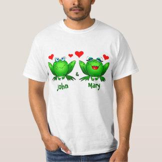 Kikkers in de Namen van de Minnaars van de Liefde T Shirt