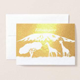 Kilimanjaro Folie Kaarten