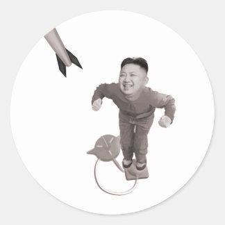Kim Jong Un - het Man van de Raket Ronde Sticker
