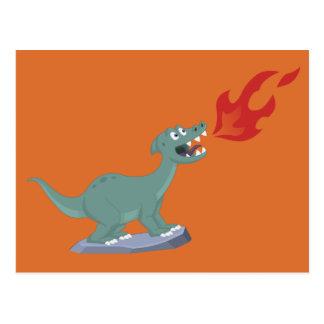 Kind brand-Ademt de Kunst van de Dinosaurus door Briefkaart