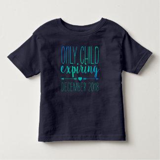Kind dat slechts - Marine en Turkooise Ombre Kinder Shirts