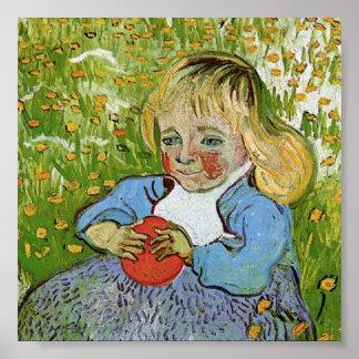 Kind met Orange Van Gogh Fine Art. Poster