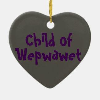 Kind van 2-toon Wepwawet (Ceramisch) Ornament