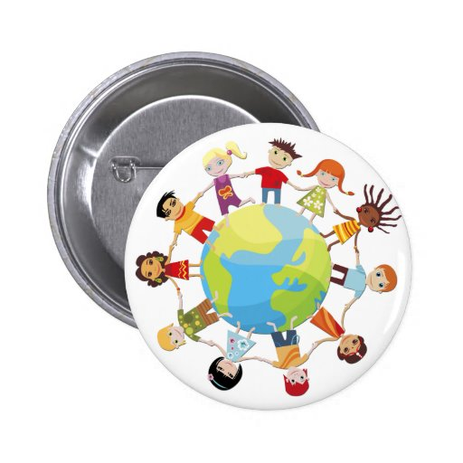 Kind voor de vrede van de wereld speld button zazzle - Home key van de wereld ...