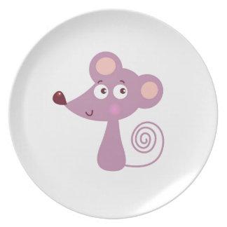 Kinder ontwerp/Muis op wit Melamine+bord