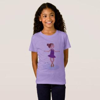 Kinder ontwerperst-shirt met het ijs schaatsend t shirt